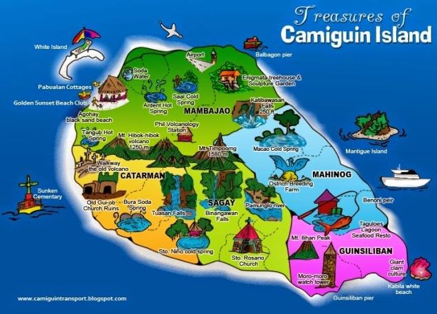 Camiguin map